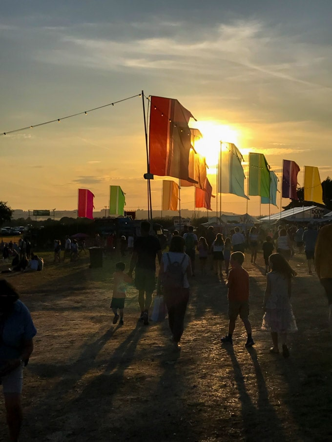 Sunset at Big Feastival