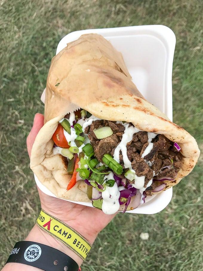 Vegan Lebanese Shawarma at Camp Bestival