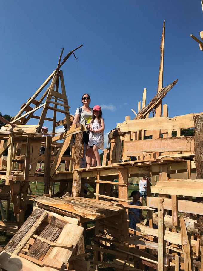 Constructing with kids - Camp Bestival Review