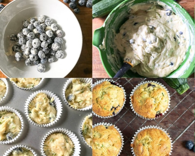How to make zucchini muffins step by step