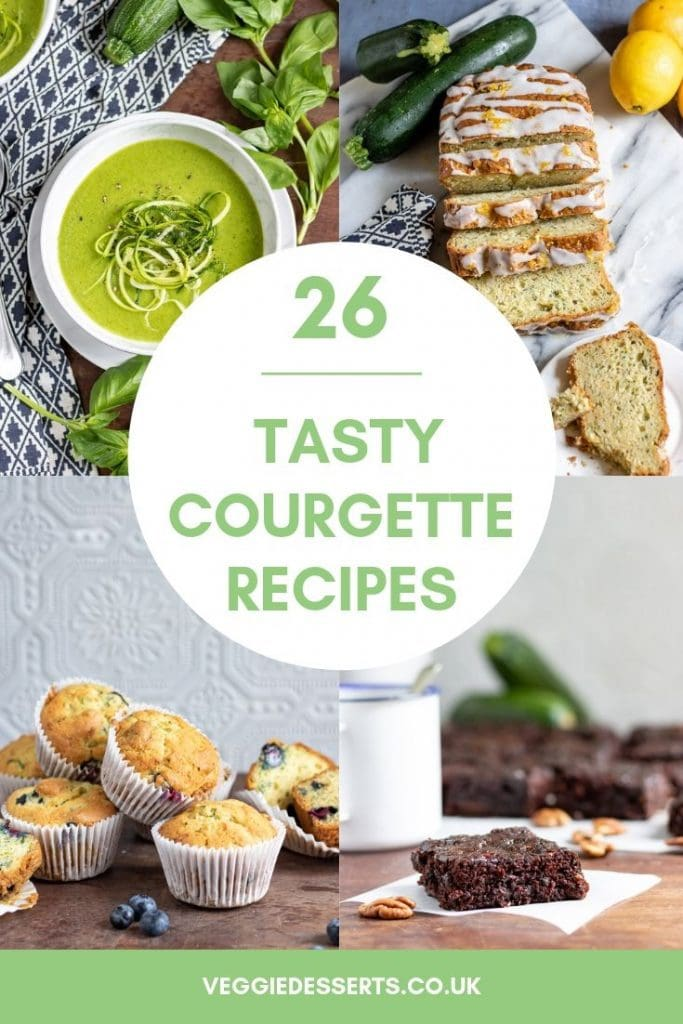 Pinnable image for list of tasty courgette recipes