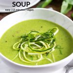pinnable image for zucchini soup recipe