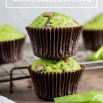 pinnable image for Spinach Muffins
