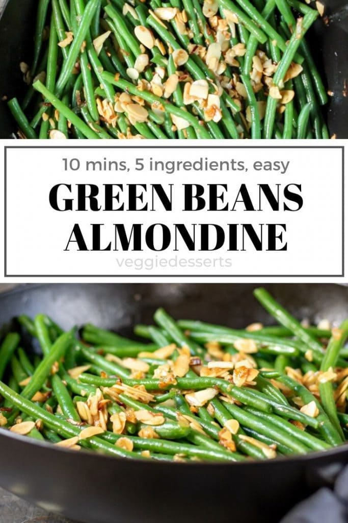 pinnable image for green beans almondine