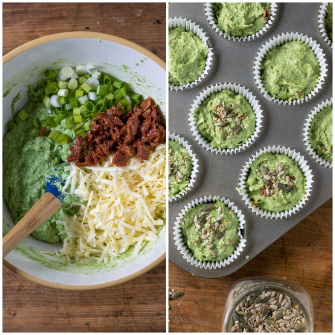 pinnable image for how to make kale muffins