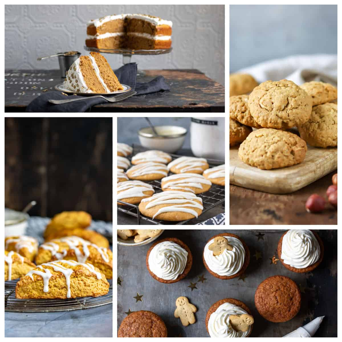 Collage of recipes made with pumpkin.