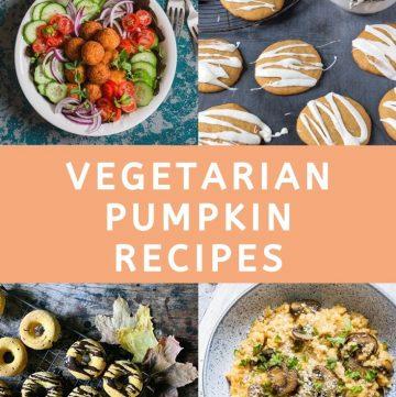 pinnable image for Top Vegetarian Pumpkin Recipes