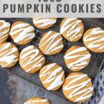 Pinnable image for Iced Pumpkin Cookies