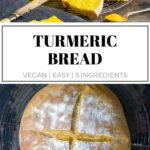 pinnable image for Turmeric Bread recipe