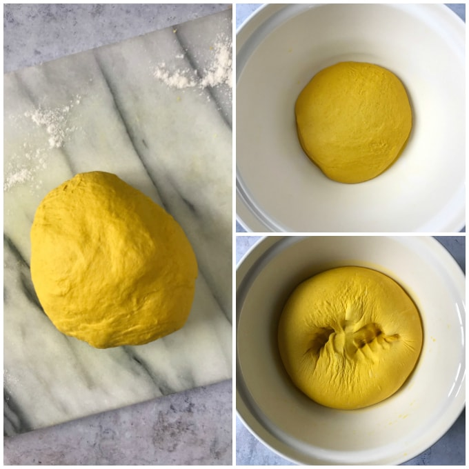 step by step photos for turmeric bread recipe