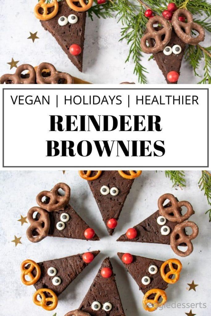 pinnable image for reindeer brownies