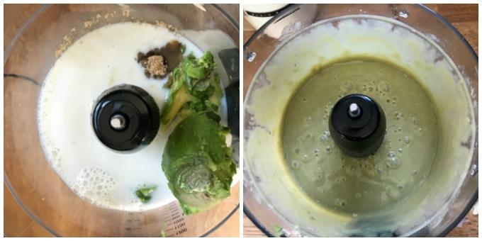How to make avocado reindeer brownies - step 1