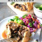 pinnable image for vegan mushroom wellington