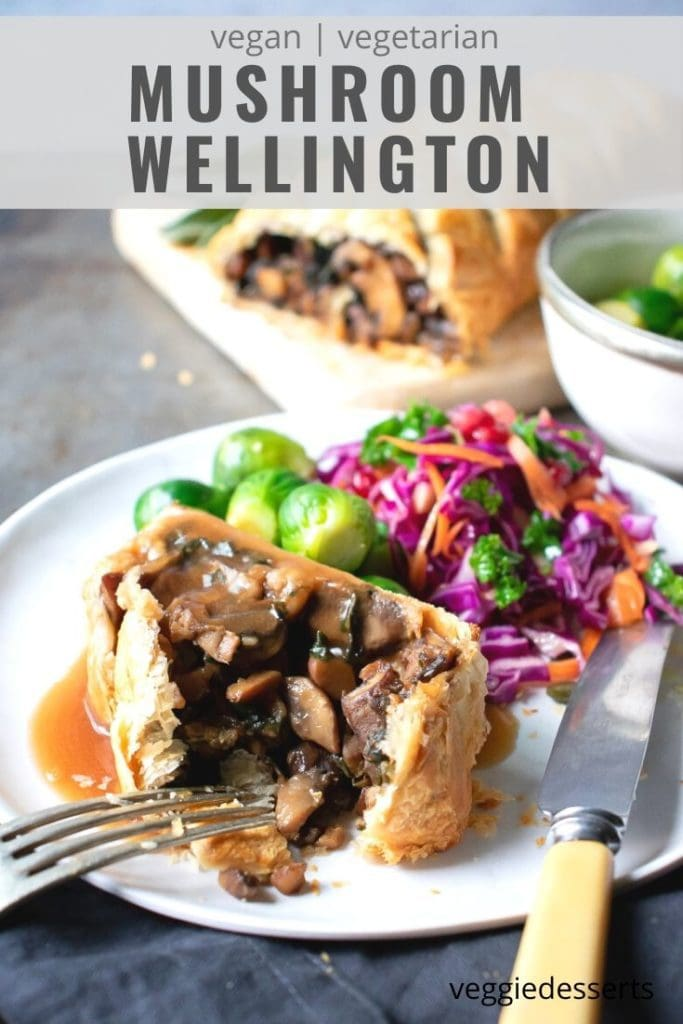 pinnable image for vegan mushroom wellington