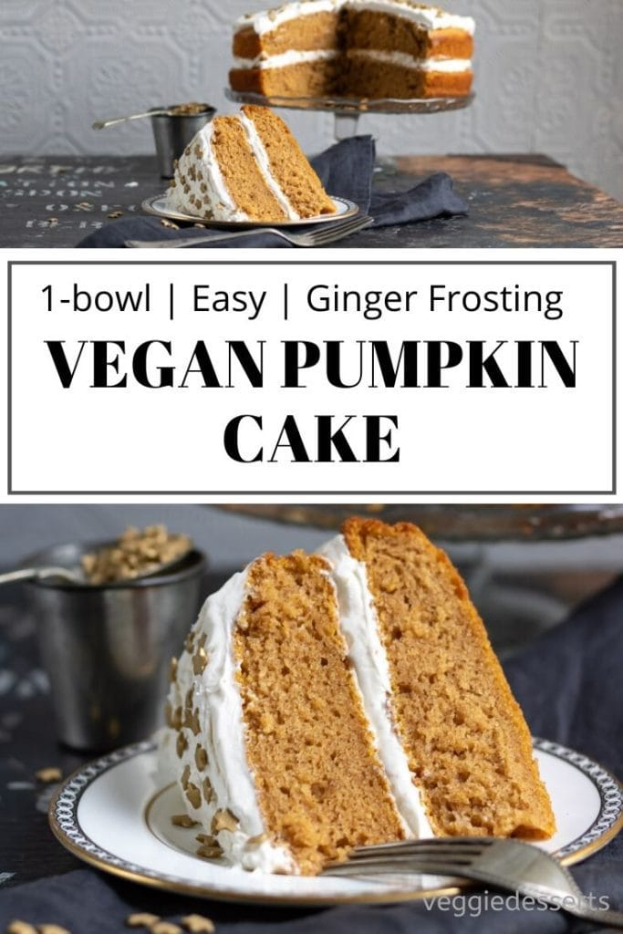 pinnable image for Vegan Pumpkin Cake Recipe