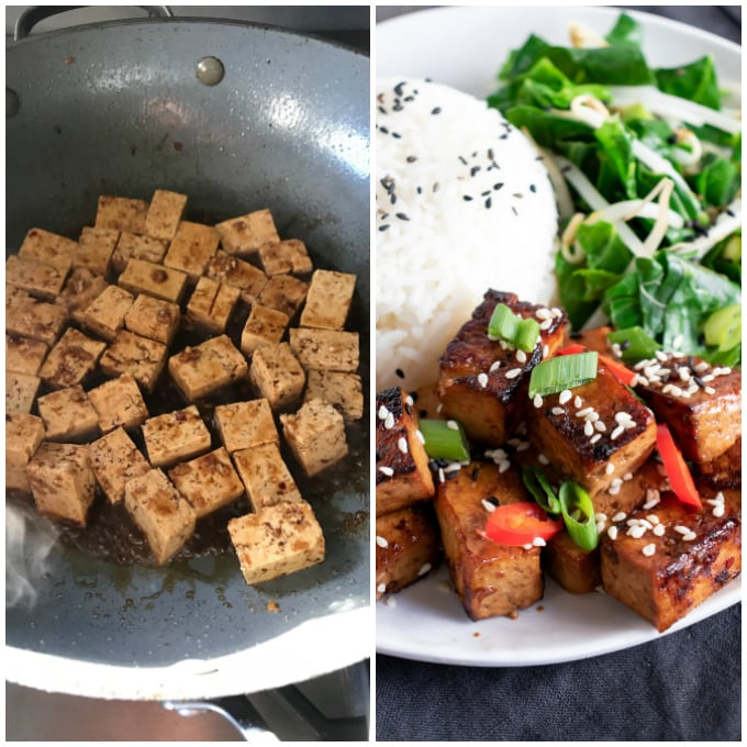 step by step instructions for making this Asian tofu recipe.