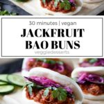 pinnable image for pulled jackfruit bao buns recipe