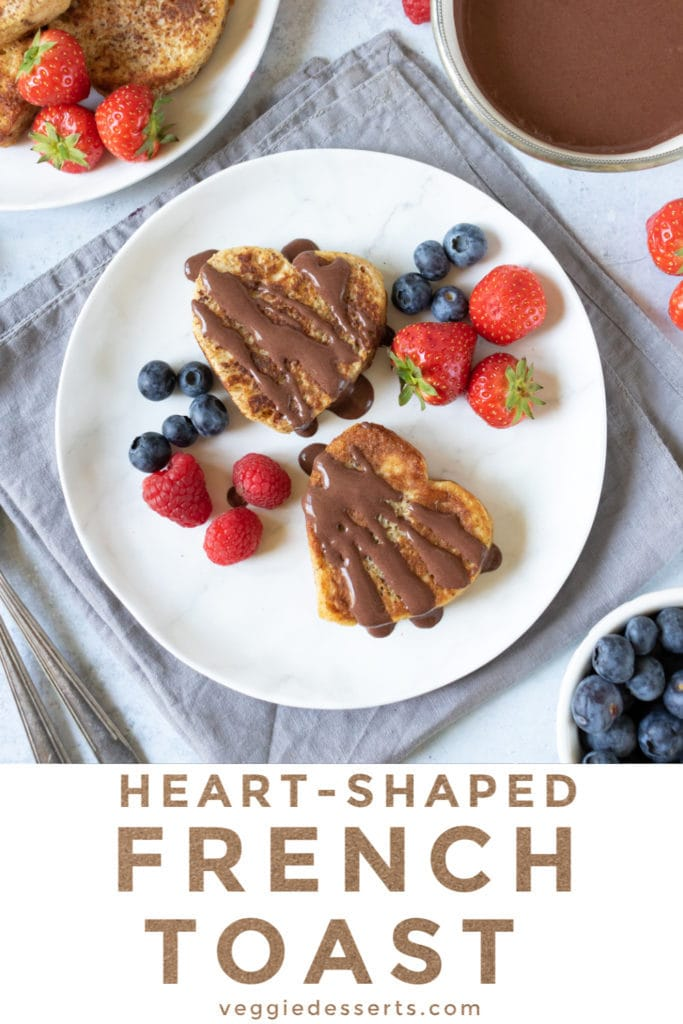 pinnable image for heart shaped french toast recipe