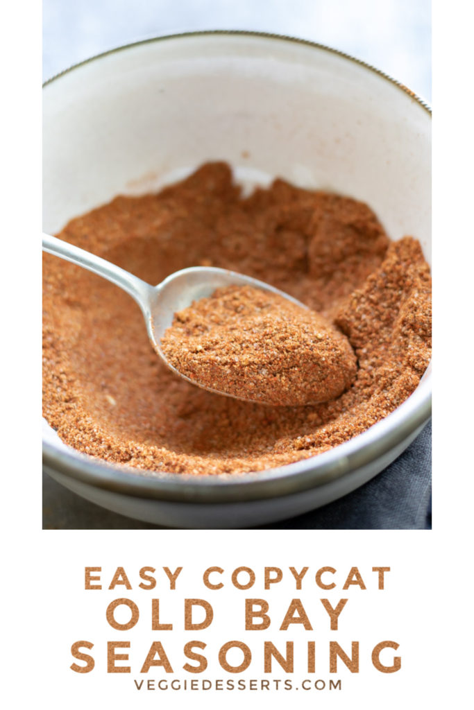 pinnable image for easy copycat old bay seasoning mix recipe