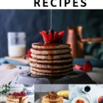 pinnable image for 25 best vegan pancake recipes.