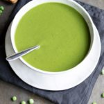 Pinnable image for Pea soup with frozen peas recipe