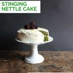 Pinnable image for lemon stinging nettle cake