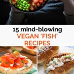 Pinnable image for Vegan Fish Recipes and Seafood