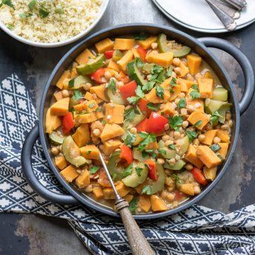 Serving dish of vegetable tagine