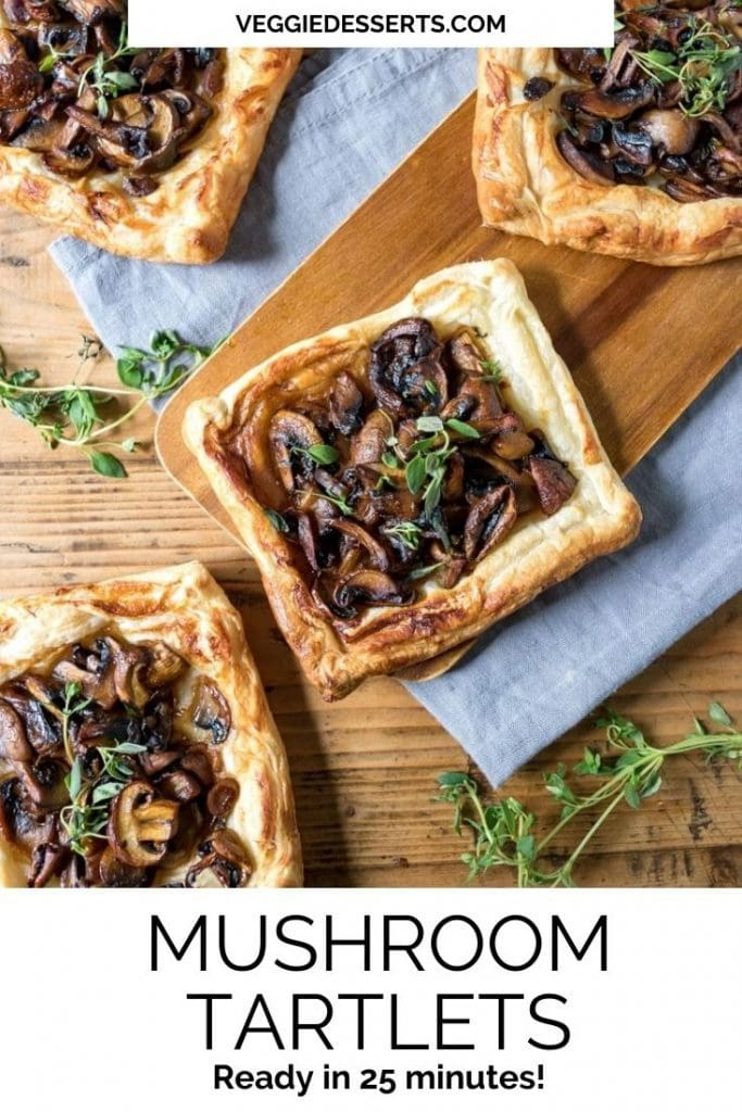 Pinnable image for Mushroom Tartlets