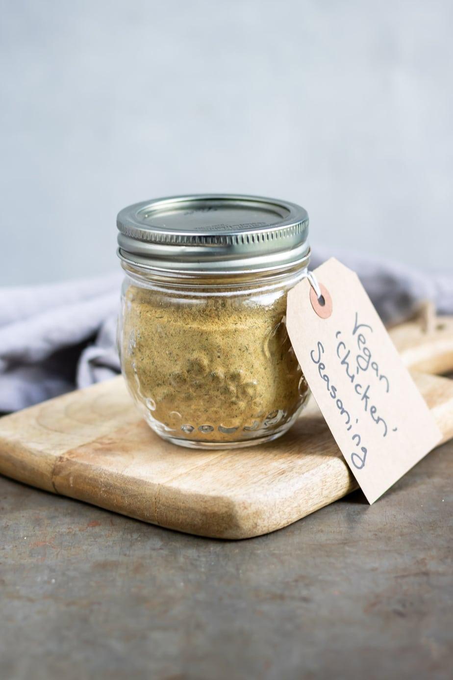 Jar of seasoning.