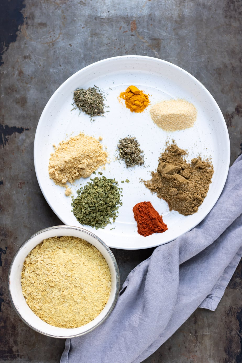 Plate of spices.