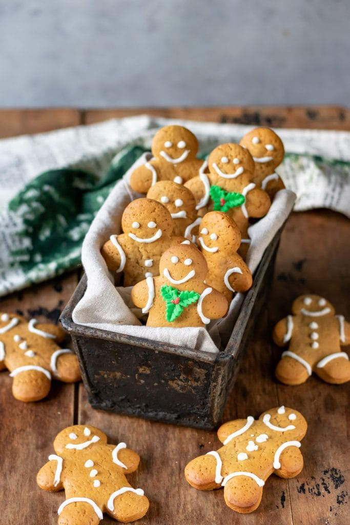 Box of gingerbread cookies.