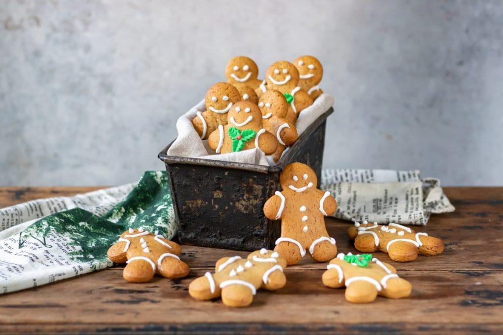 Box of gingerbread men cookies.