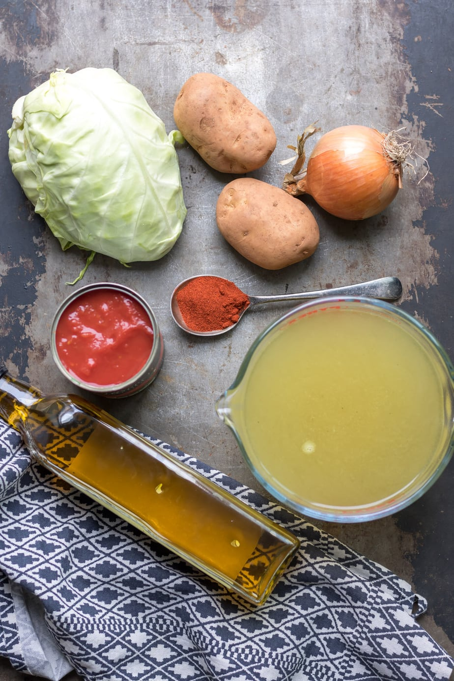 Tale with ingredients for cabbage soup.