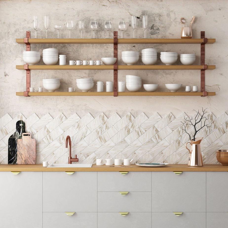 Kitchen countertop.