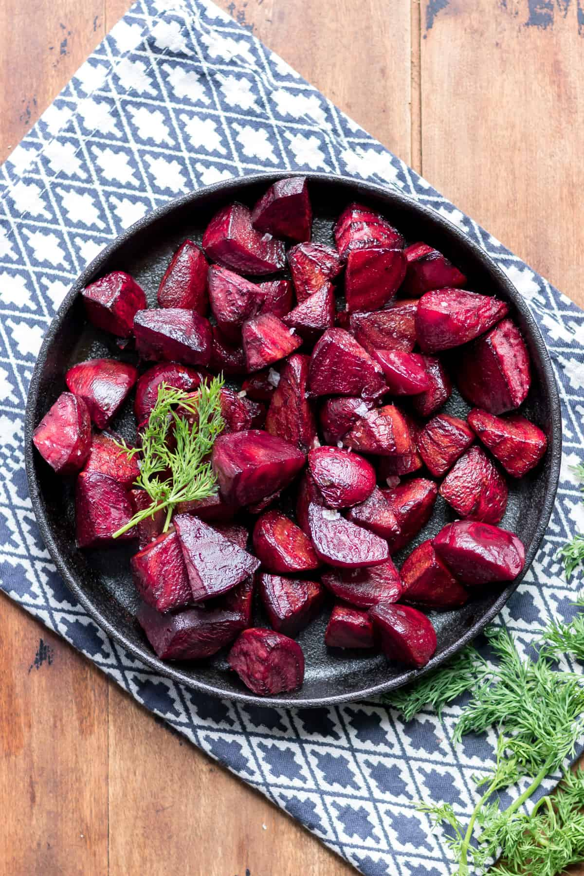 Plate of beets.