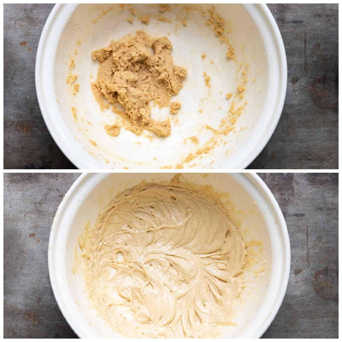 Making cookie dough.
