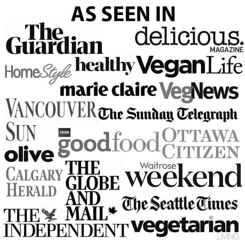 Collage of press logos.