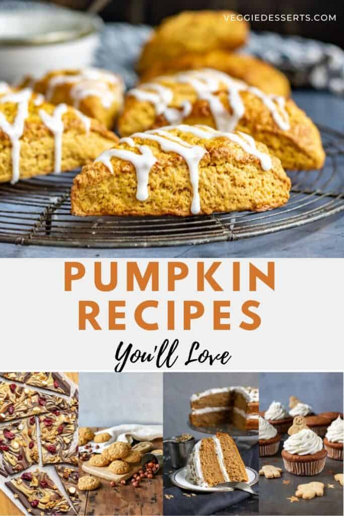 Collage of pumpkin recipes.