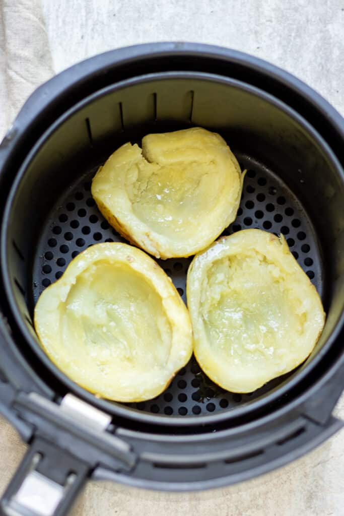 Potato skins in the air fryer.