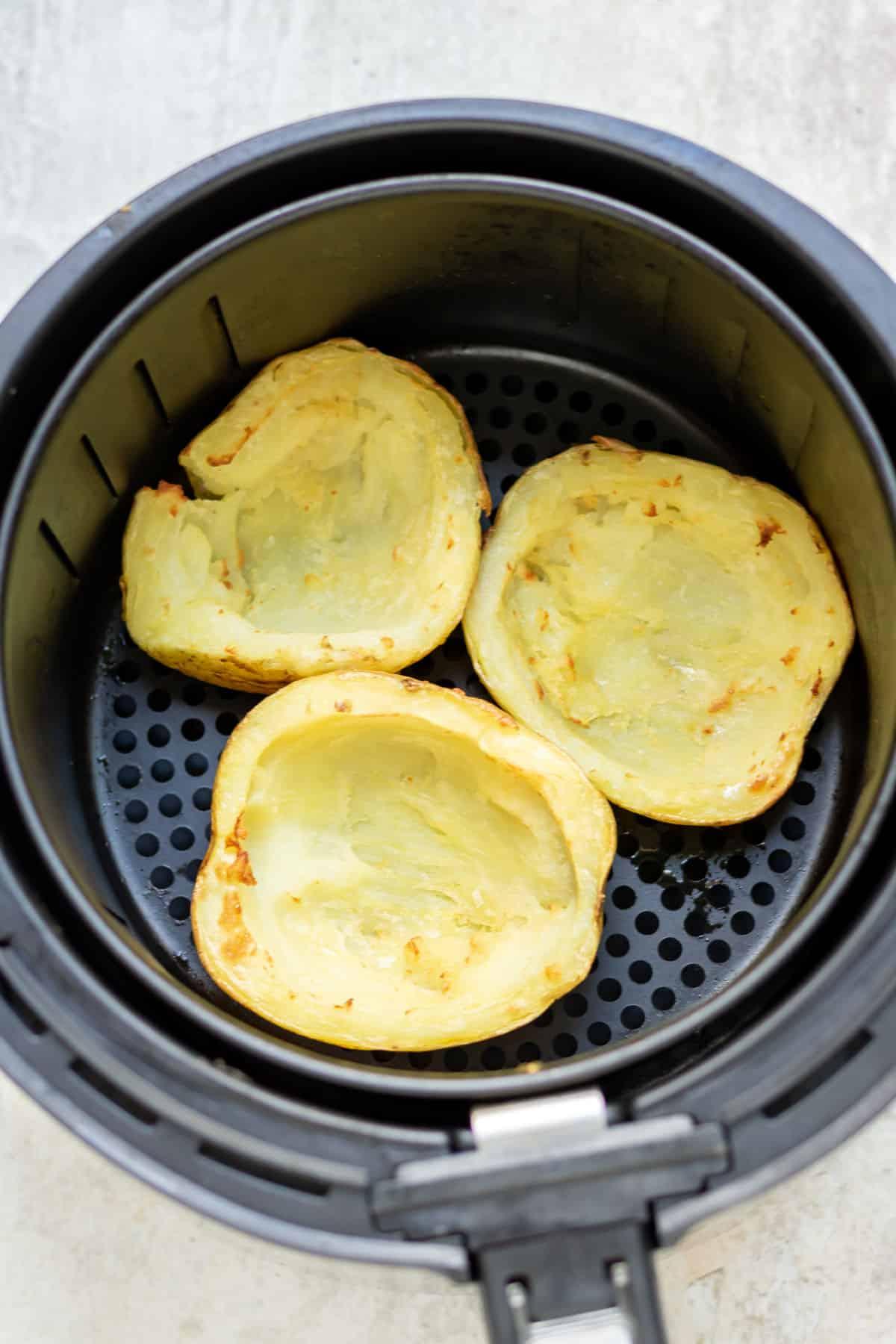 Air fried potatoes.